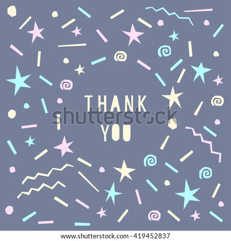 Card Template Thank You Card Abstract Stock Vector Royalty Free