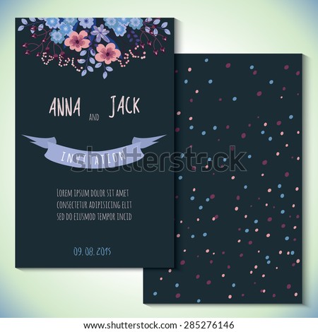 Card Templates Wedding Invitation Save Date Stock Vector Royalty