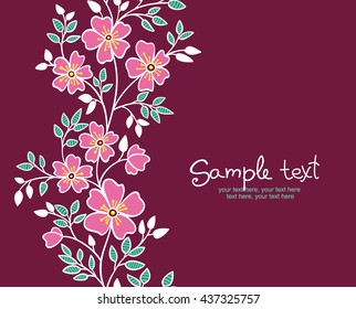 card with vertical seamless pattern.