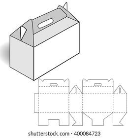 cardboard box, cutting, box with handle