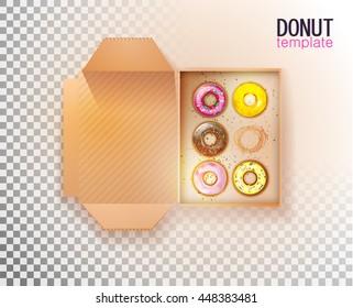 doughnut box stock vectors images vector art shutterstock