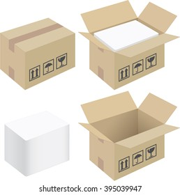 Cardboard box packaging