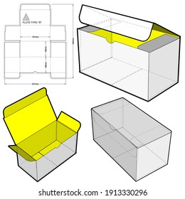 Cardboard box for sending mail. Ease of assembly, no need for glue (Internal measurement 16x8x8 cm) and Die-cut Pattern. The .eps file is full scale and fully functional. Prepared for real cardboard