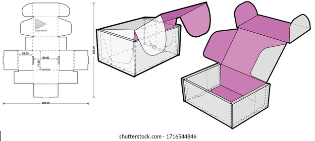 Cardboard box for sending mail. Highly recommended for technological and electronic products. Ease of assembly, no need for glue (Internal measurement 9.3 x 7.15+ 5.2 cm) and Die-cut Pattern