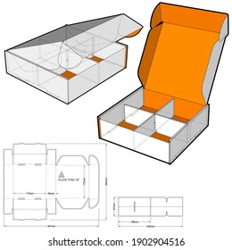 Cardboard box for sending mail. Highly recommended for technological and electronic products. Ease of assembly, no need for glue (Internal measurement 17x17x5 cm) and Die-cut Pattern