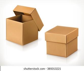 Cardboard box, vector