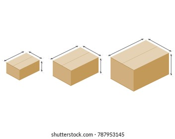 cardboard boxes size