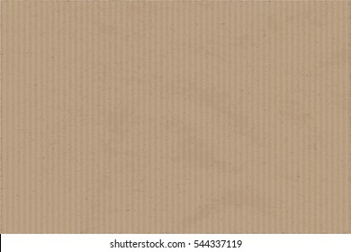 Cardboard Craft Paper Texture Template Realistic Vector Wallpaper - Light Brown Elements on Rectangle Brown Grunge Background - Flat Graphic Design