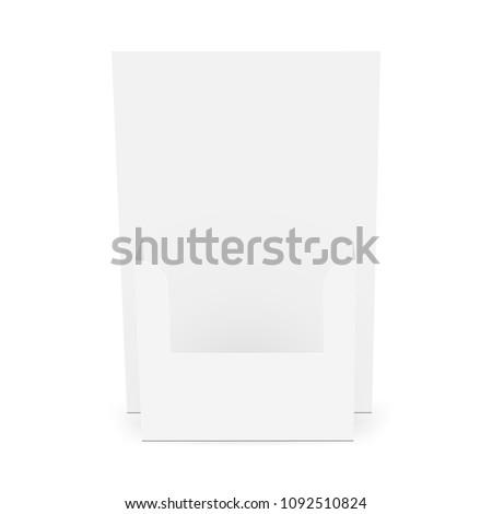 Cardboard Flyer Dispenser Front View Brochure Stock Vector Royalty