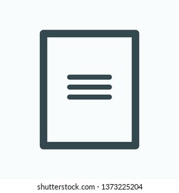 Cardboard folder outline icon, cardboard file folder isolated vector icon