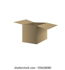 cardboard paper box vector illustration