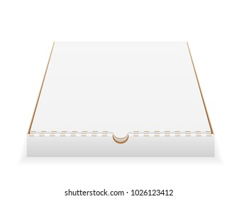 cardboard pizza box empty template stock vector illustration isolated on white background