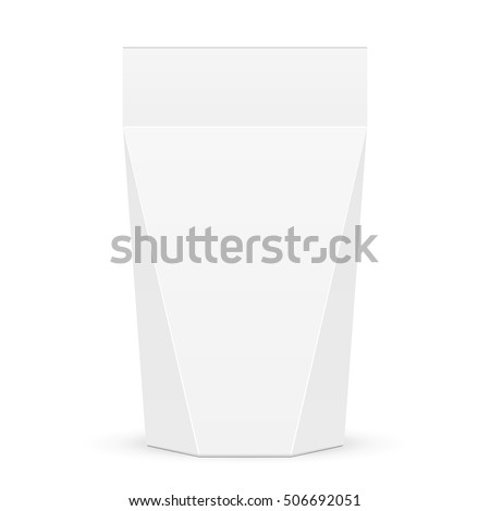 Cardboard Or Plastic Product Package Gift Box Illustration Isolated On White Background Mock Up