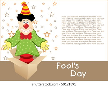 cardboard with star, cartoon and sample text, vector illustration