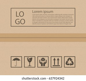 Cardboard texture and post signs