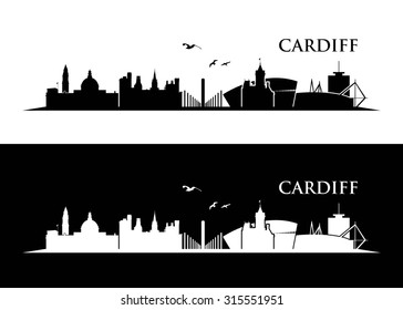 Cardiff skyline - vector illustration