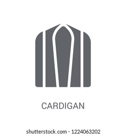 Cardigan icon. Trendy Cardigan logo concept on white background from Clothes collection. Suitable for use on web apps, mobile apps and print media.