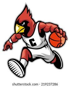 cardinal as a basketball mascot