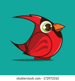 cardinal bird cartoon eps 10 vector