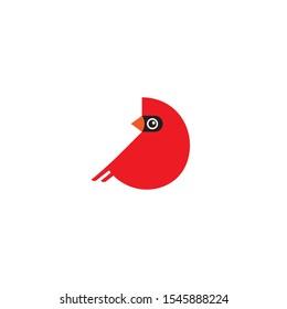 Cardinal bird cartoon icon on a white background