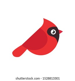 Cardinal bird cartoon vector on a white background