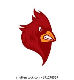 cardinal bird head vector
