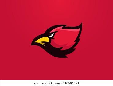 cardinal bird sport mascot