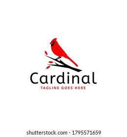 Cardinal Bird Vector Logo Template