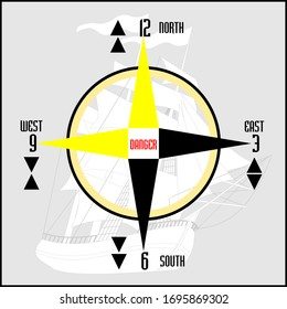 Cardinal Buoys and Special Buoys, direction signs table. Vector drawing related to nautical.