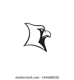 Cardinal head mascot silhouette vector on a white background