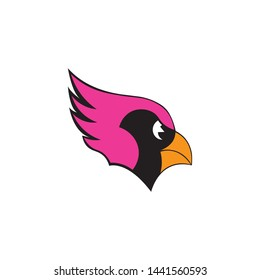 Cardinal head mascot vector on a white background