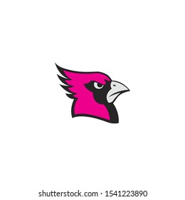 Cardinal mascot head  vector on a white background