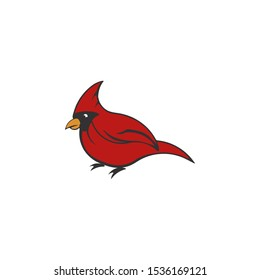 Cardinal Mascot vector icon isolated on a white background