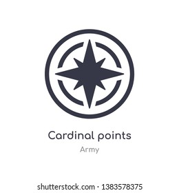 cardinal points on winds star icon. isolated cardinal points on winds star icon vector illustration from army collection. editable sing symbol can be use for web site and mobile app