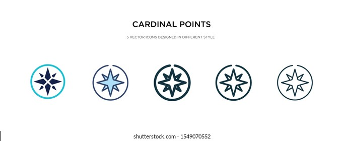 cardinal points on winds star icon in different style vector illustration. two colored and black cardinal points on winds star vector icons designed in filled, outline, line and stroke style can be