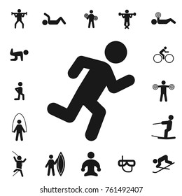cardio. fitness collection, kinds of sports. Simple icon set on white background.