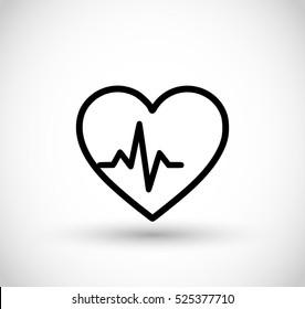 Cardio icon vector