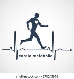 cardio metabolic logo vector
