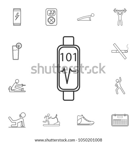 Cardio Training Fitness And Gym Workout Icon Detailed Set Of Icons