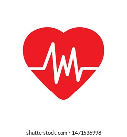 cardiogram icon. flat illustration of cardiogram - vector icon. cardiogram sign symbol