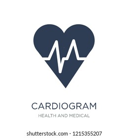Cardiogram icon. Trendy flat vector Cardiogram icon on white background from Health and Medical collection, vector illustration can be use for web and mobile, eps10