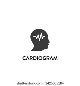 cardiogram icon vector. cardiogram vector graphic illustration