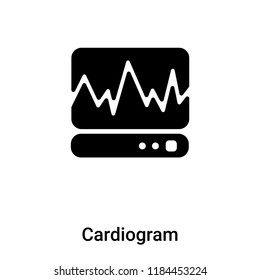 Cardiogram icon vector isolated on white background, logo concept of Cardiogram sign on transparent background, filled black symbol