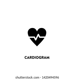 cardiogram icon vector. cardiogram sign on white background. cardiogram icon for web and app