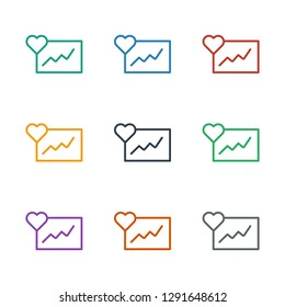 cardiogram icon white background. Editable outline cardiogram icon from fitness. Trendy cardiogram icon for web and mobile.