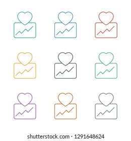 cardiogram icon white background. Editable line cardiogram icon from fitness. Trendy cardiogram icon for web and mobile.