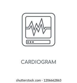 Cardiogram linear icon. Cardiogram concept stroke symbol design. Thin graphic elements vector illustration, outline pattern on a white background, eps 10.