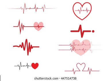 Cardiogram on white background,Cardiogram of love