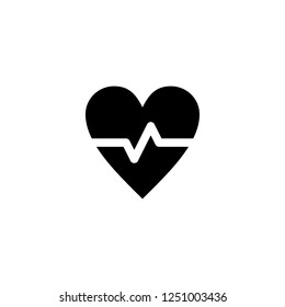 cardiogram vector icon. cardiogram sign on white background. cardiogram icon for web and app