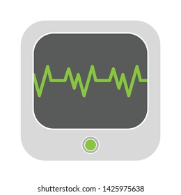 cardiograph icon. flat illustration of cardiograph vector icon for web
